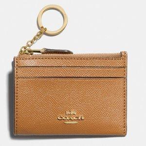 Coach mini skinny ID holder Keychain